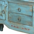 Turquoise Blue Santa Fe Style Buffet or Entertainment Console