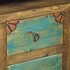 Painted Wood Buffet or Entertainment Console with Tin Door Inserts