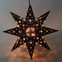 Small Elegant Tin Star Light With Marbles 14