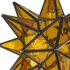 Mexican Yellow Glass Star Light