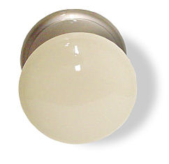 Sold Out Gainsborough Door Knob - Bisque & Satin Nickel - Non-Locking - Whitehall Suite Collection D30-305BISCN67US