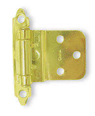 "Pair Bright Brass 3/8"" Inset/Offset  Self Closing Hinge HAM-34915-U-203PB"