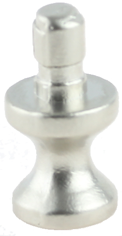 Satin Nickel Mounting Stem For Knob Making Or Box Foot