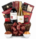 Two Turtle Doves: Holiday Goodies and Wine Gift Baskets For Christmas