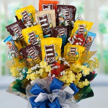 M&M Madness Candy Bouquet