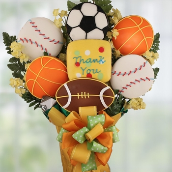 Thank You Sports Theme Cookie Bouquet - SOLD OUT
