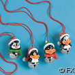 Resin Penguin And Metal Jingle Bell Necklace
