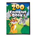 """ZOO ANIMAL COLORING BOOK 9"""" by 11"""""""