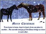 "Large 3"" x 4"" Merry Christmas Snow Horse Magnet"
