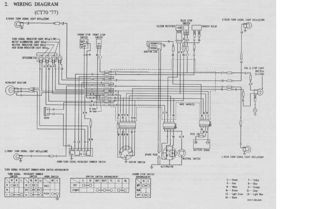 1977 ct70 wiring diagram online circuit wiring diagram u2022 rh electrobuddha co uk 1977 honda cb750 wiring diagram 1977 honda gl1000 wiring diagram