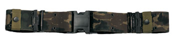 NEW ISSUE MARINE CORPS STYLE QUICK RELEASE CAMOUFLAGE NYLON PISTOL BELT