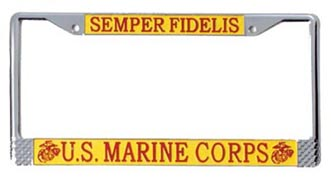 U.S. MARINES LICENSE PLATE FRAME
