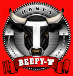 Blank Hanes Beefy-T Tee Shirts 5180 bulk pricing online at $3.00/ea on white - Wholesale