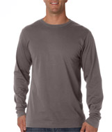 Ultra Club 8601 Organic Mens Ring-Spun T-shirts UltraClub Cotton Long-Sleeve Crewneck T-shirts