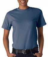 Denim Blue Hanes Beefy-T shirts Blank T-shirts - Wholesale
