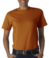 Texas Orange Hanes Beefyt shirts 5180 bulk soft t shirts