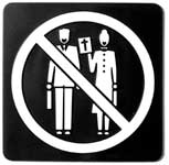 No Preachers Door Sign