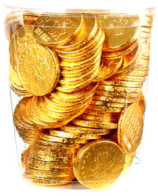 120 Bulk Chocolate Coins