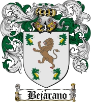 bejarano family crest coat of arms