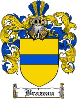brazeau family crest coat of arms
