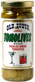 Old South Tomolives Brand Pickled Green Tomatoes