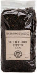 India Tree Premium Whole Black Tellicherry Peppercorns, Case of 6