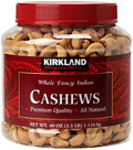 Kirkland Whole Fancy Indian Cashews