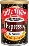 Caffe D'Vita Instant Freeze-Dried Espresso