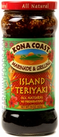 Kona Coast Hawaiian Style Island Teriyaki Sauce, Case of 6