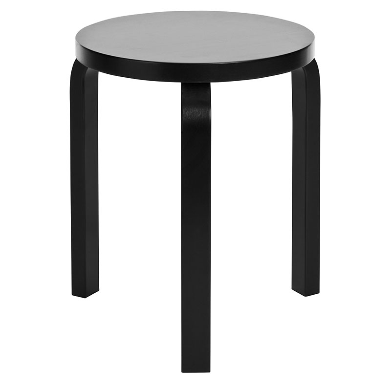 Three Legged Stool ~ Artek alvar aalto stool three legged black