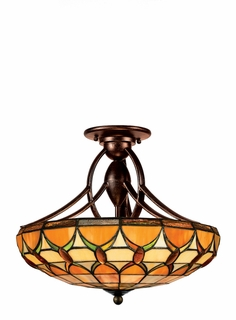 TF1041EP Quoizel Lighting Veranda Tiffany Semi-Flush Lighting (CLEARANCE ITEM)
