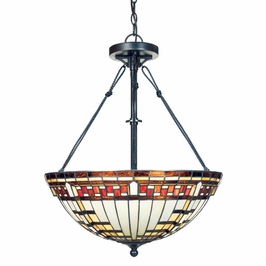 TFBA2821VA Quoizel Lighting Barrett Pendant with Valiant Bronze Finish