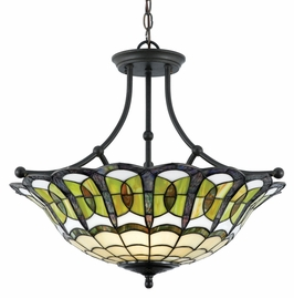 TFBE2822VB Quoizel Lighting Bethany Pendant With 3 Uplights