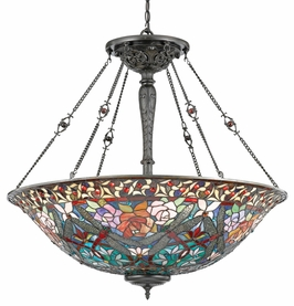 TFDG2838VB Quoizel Lighting Dragonfly Garden Pendant with Vintage Bronze Finish