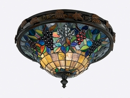 TFFR1617VA Quoizel Lighting Fruit Harvest Flush Mount with Valiant Bronze Finish