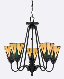 TFGO5005VB Quoizel Lighting Gotham Chandelier with Vintage Bronze Finish