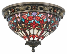 TFLI1617MP Quoizel Lighting Lily Flush Mount in Masterpiece