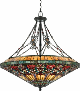 TFRG2840VA Quoizel Lighting Rose Garden Pendant with Valiant Bronze Finish