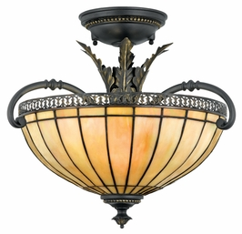 TFSO1714DN Quoizel Lighting Sonnet Semi-Flush Mount with Dynasty Finish