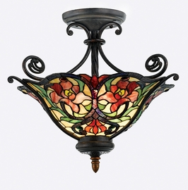 TFSP1719RC Quoizel Lighting Splendor Semi-Flush Mount with Renaissance Copper Finish