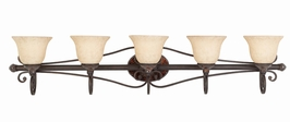 25694 Triarch International 5 Light Bath Vanity