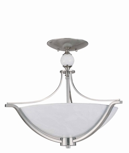 29466-Bs Triarch International Halogen Vi 3 Light Semi Flush