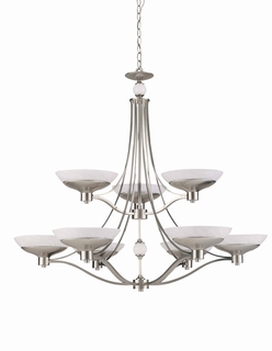 29469-Bs Triarch International Halogen Vi 9 Light Chandelier