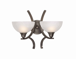 29760/2-Bs Triarch International 2 Light Luxor Wall Sconce