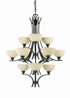 29771-Bz Triarch International 12 Light Luxor Chandelier