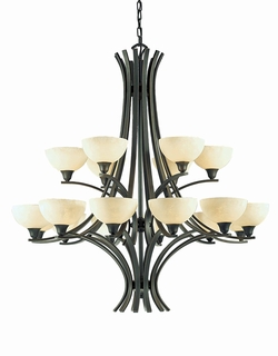 29775-Bz Triarch International 18 Light Luxor Chandelier