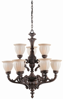 31024 Triarch International 9 Light The Sultan Chandelier