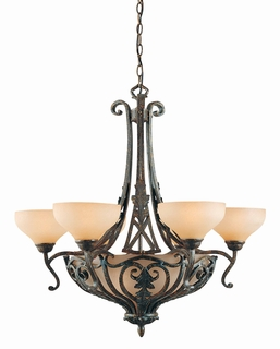 31083 Triarch International 9 Light Passion 6+3 Light Chandelier