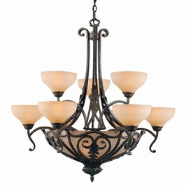 31084 Triarch International 12 Light Passion 9+3 Light Chandelier