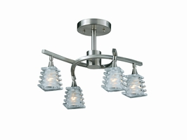 31171-18 Triarch International 4 Light Milan Semi-Flush